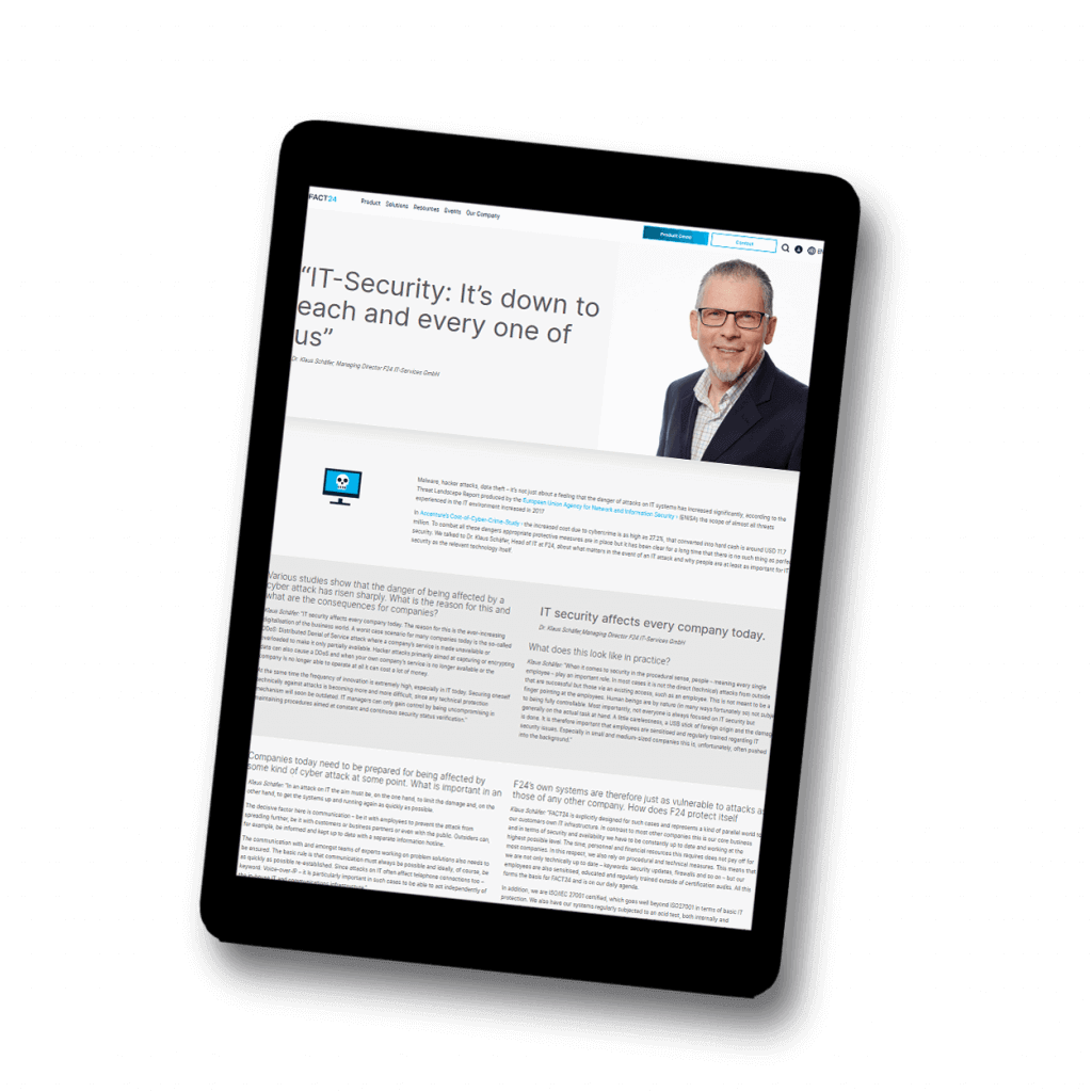 Tablet View of Article IT-Security
